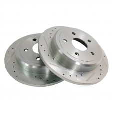 Jeep| WK/WH Grand Cherokee  Drilled & Slotted Brake Rotor Set, Rear